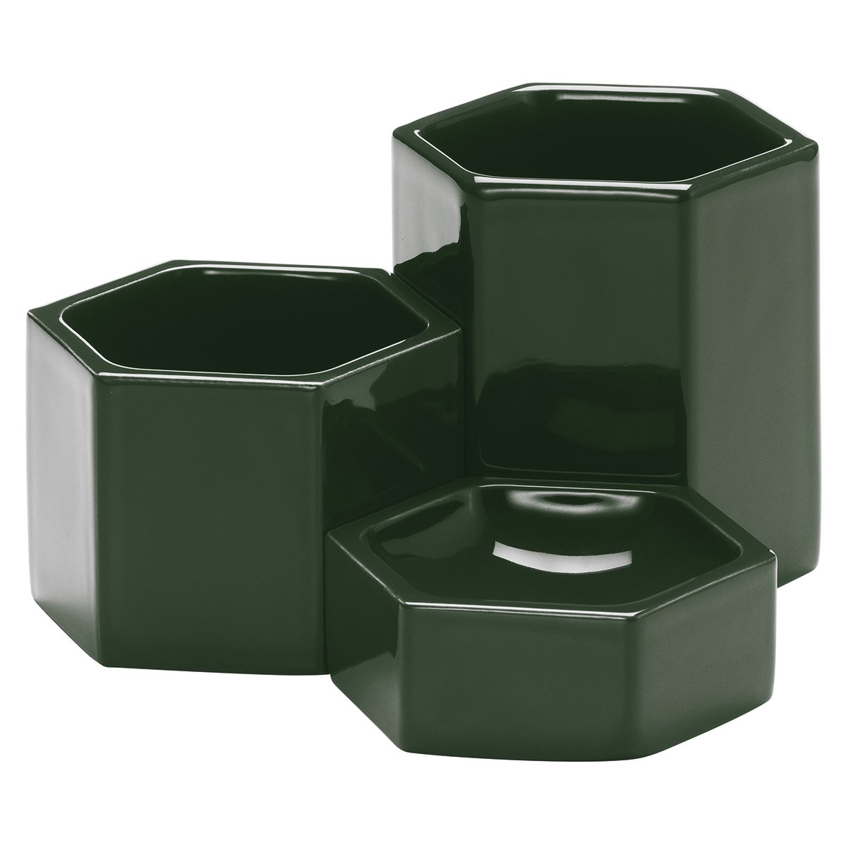 Vitra Hexagonal Containers - Dark Green
