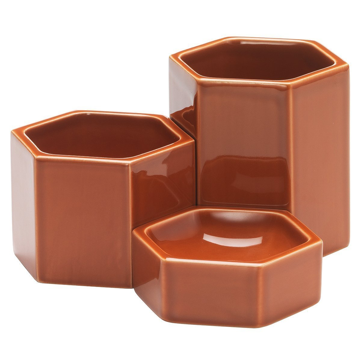 Vitra Hexagonal Containers - Rusty Orange