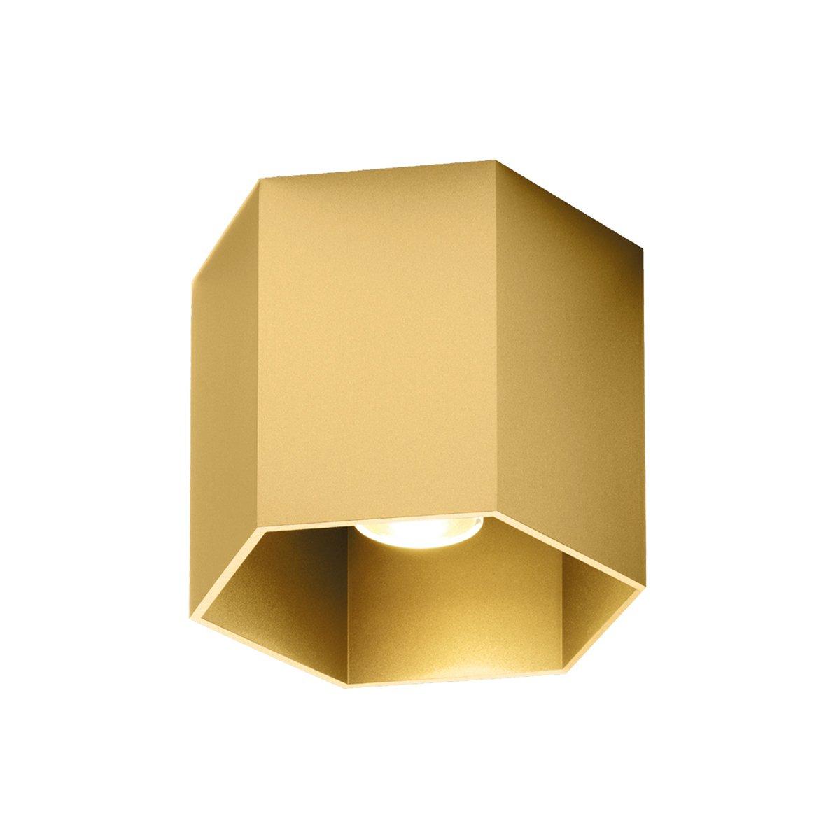 Wever & Ducr� Hexo 1.0 Plafondlamp Gold LED - 3000 Kelvin