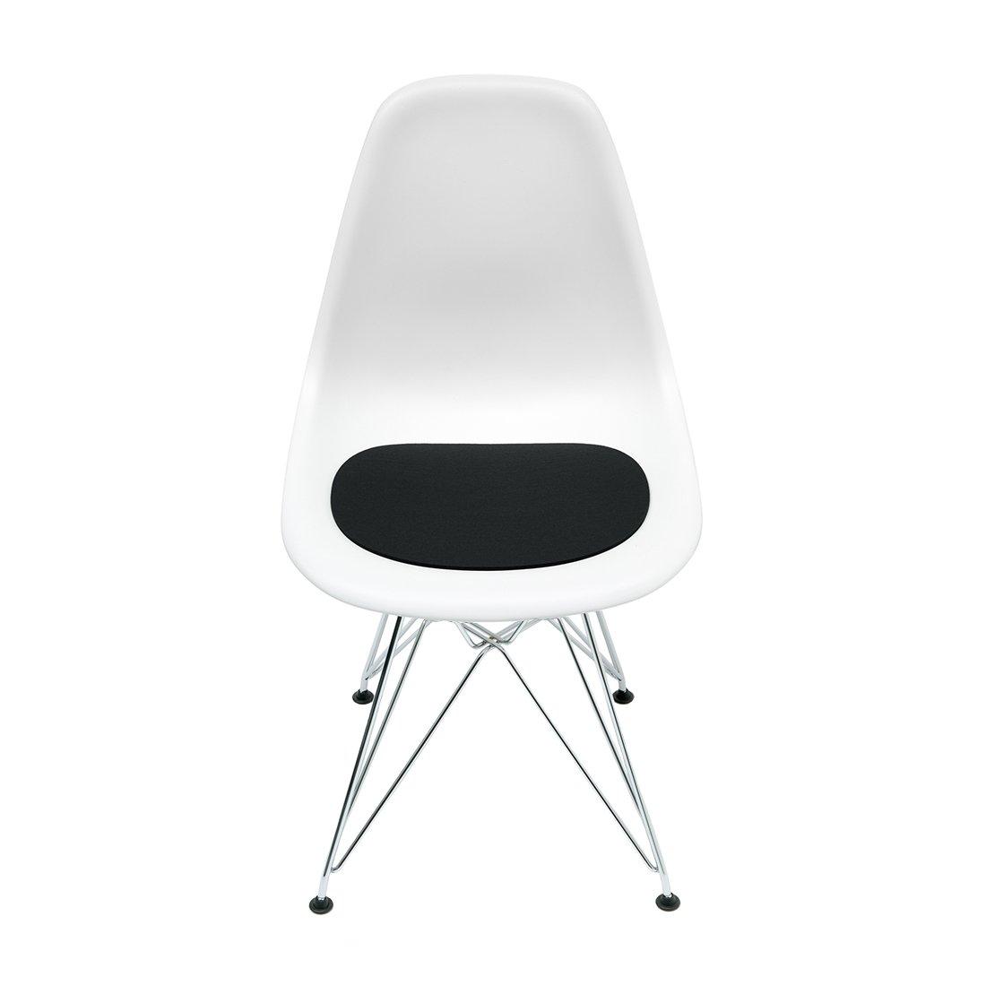 Hey Sign Eames Chair Zitkussen 10 mm Gevuld Zwart