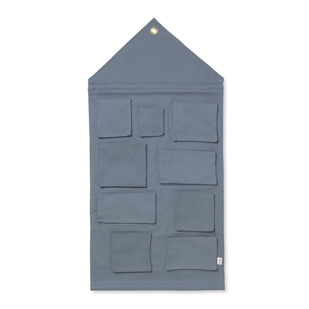 Ferm Living House Wandorganizer - Dusty Blue