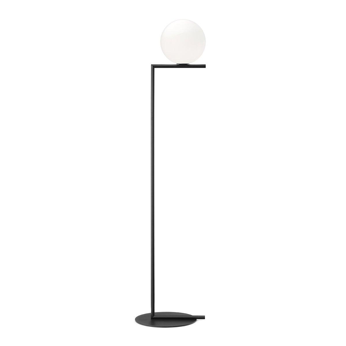 FLOS IC Light Vloerlamp Small - Zwart