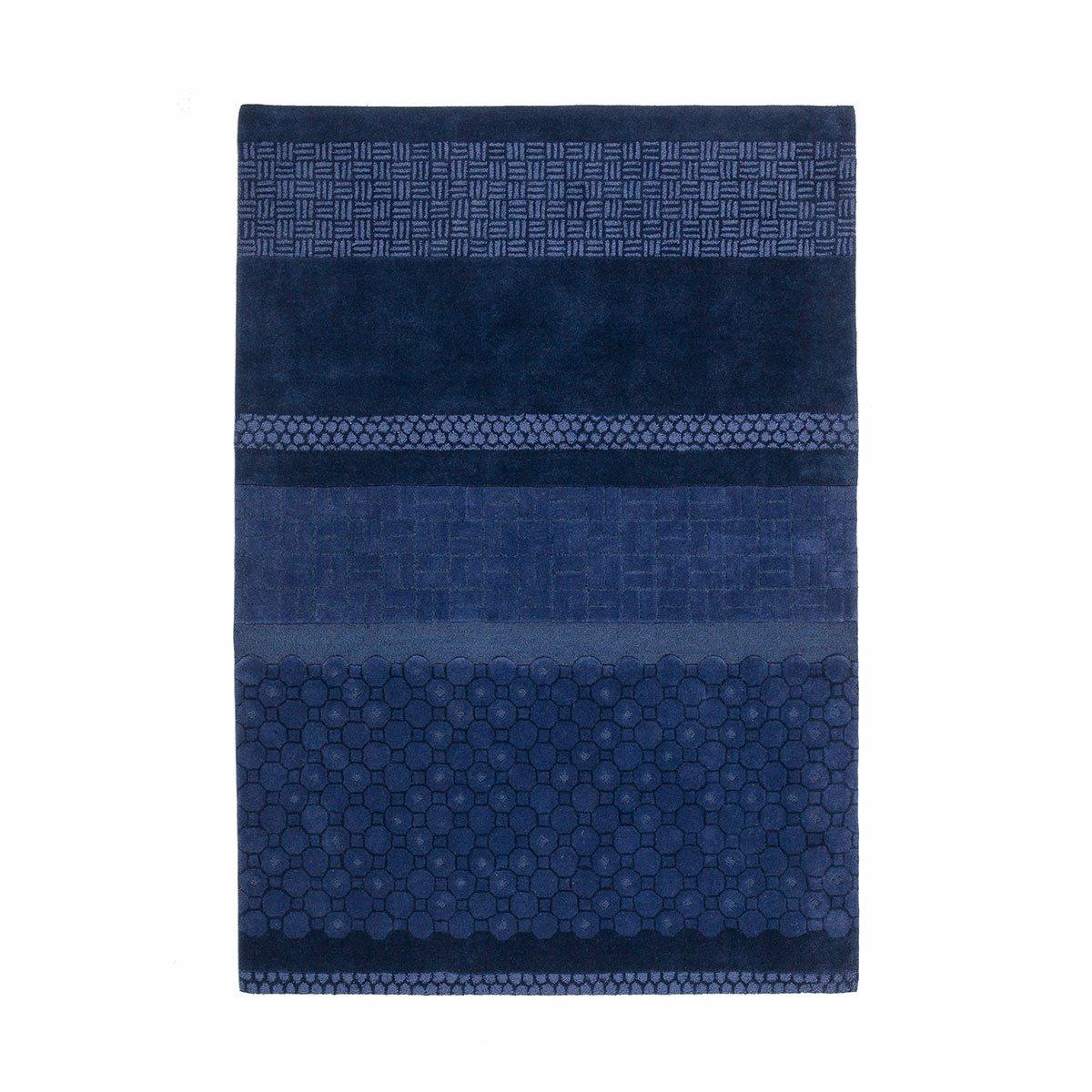 Nanimarquina Jie Vloerkleed Blauw - l. 240 x b. 170 cm.