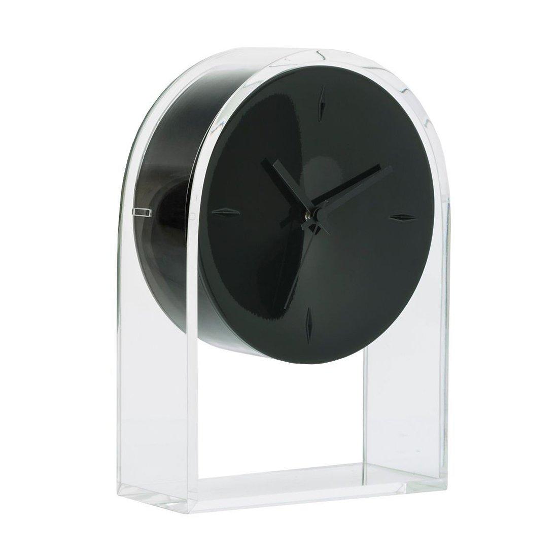 Kartell Air du Temps Klok - Transparant/Zwart