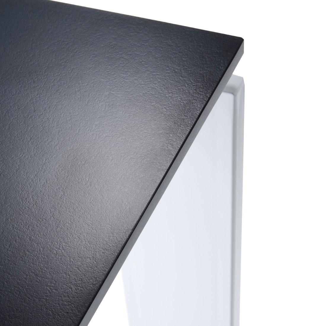 Kartell Four Eettafel 223 x 79 cm - Zwart - Aluminium
