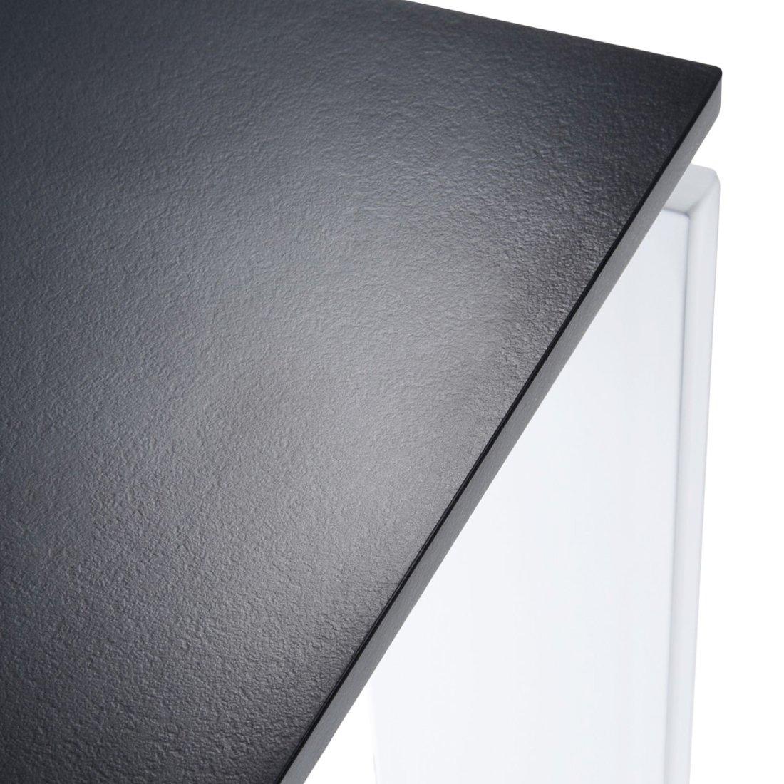 Kartell Four Eettafel 158 x 79 cm - Zwart - Wit
