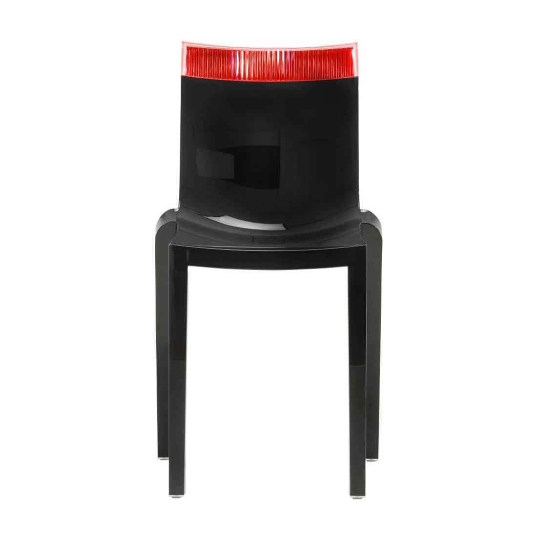 Kartell Hi-Cut Stoel Zwart Rood