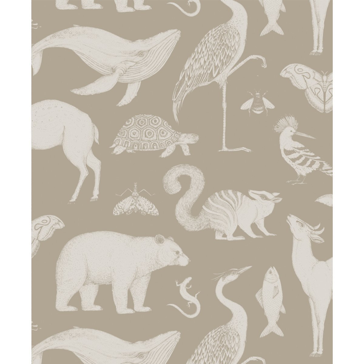 Ferm Living Katie Scott Animals Behang - Sand