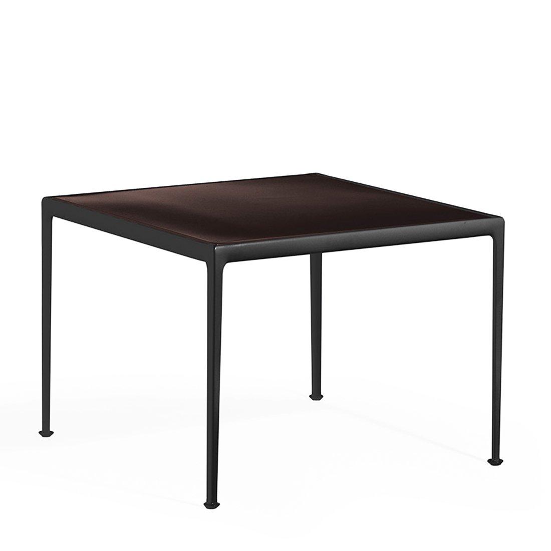 Knoll 1966 Eettafel - 96.5 x 96.5 cm. Onyx/Donkerbrons
