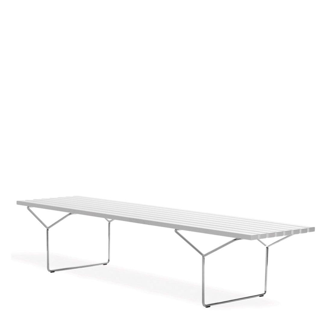 Knoll Outdoor Bertoia Bench - Acrylic Stone/RVS