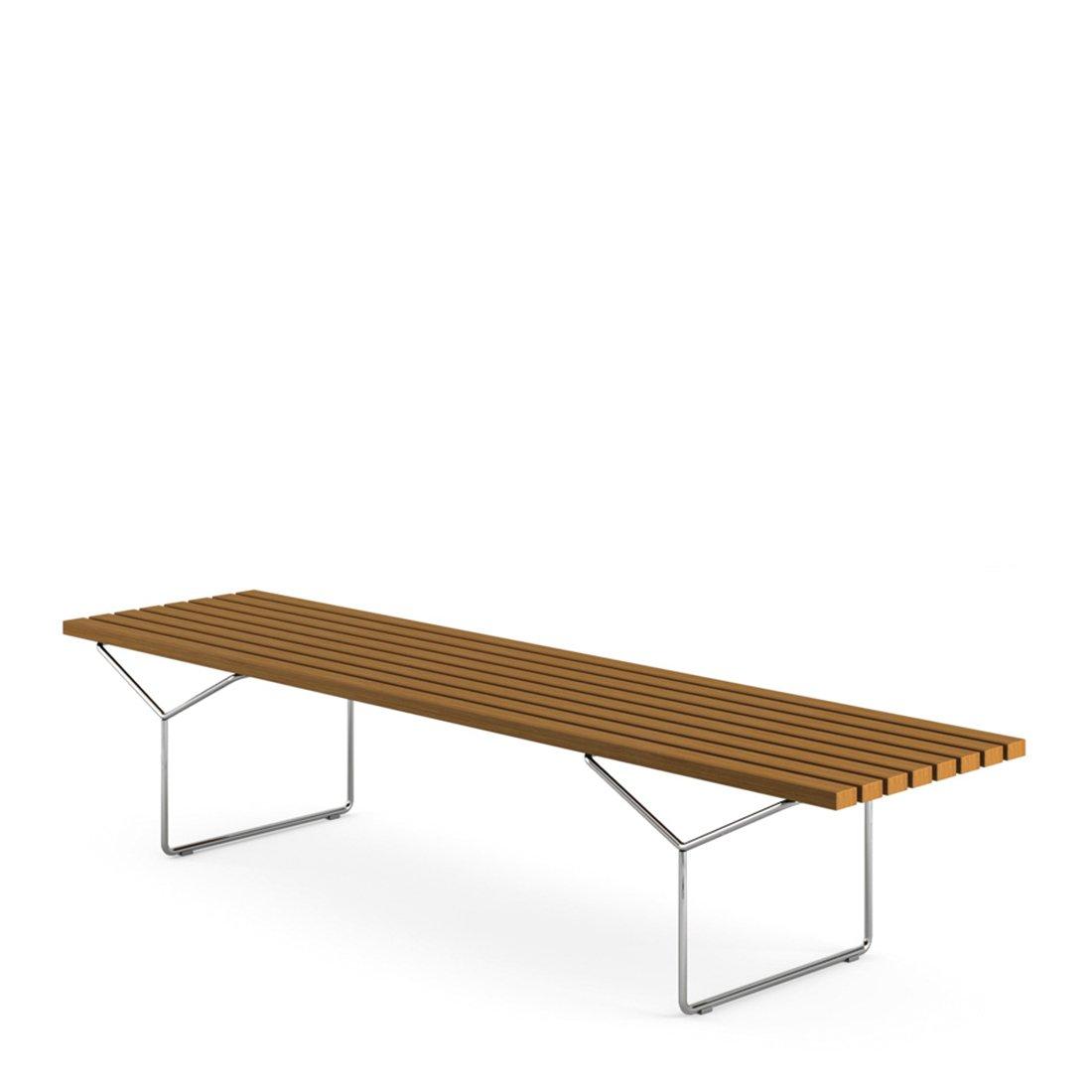 Knoll Outdoor Bertoia Bench - Teak/RVS