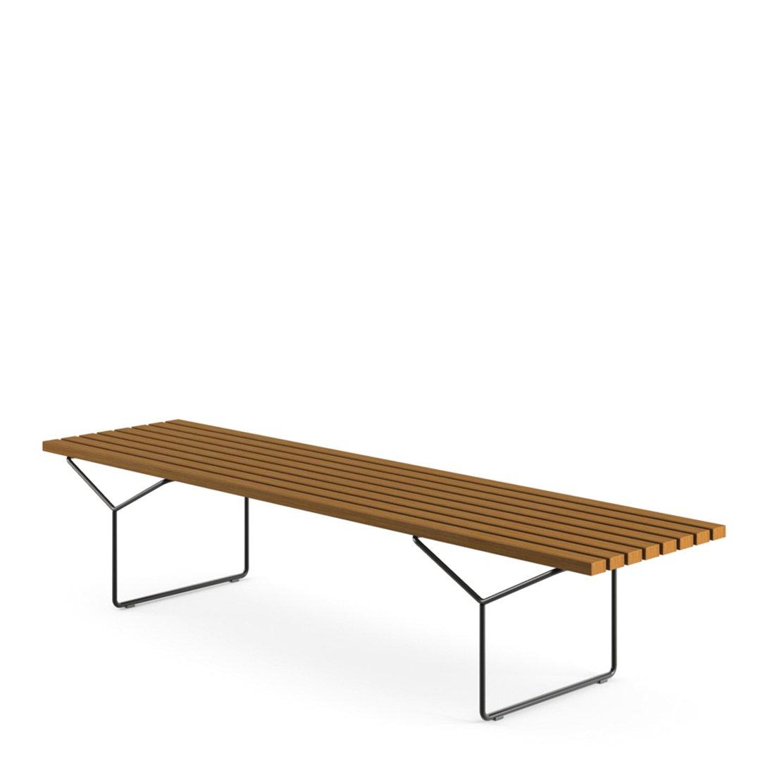 Knoll Outdoor Bertoia Bench - Teak/Zwart