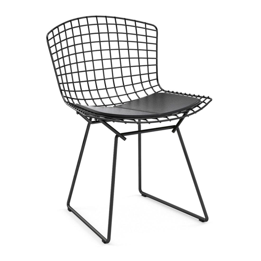 Knoll Bertoia Side Chair Zwart - Vinyl Zwart