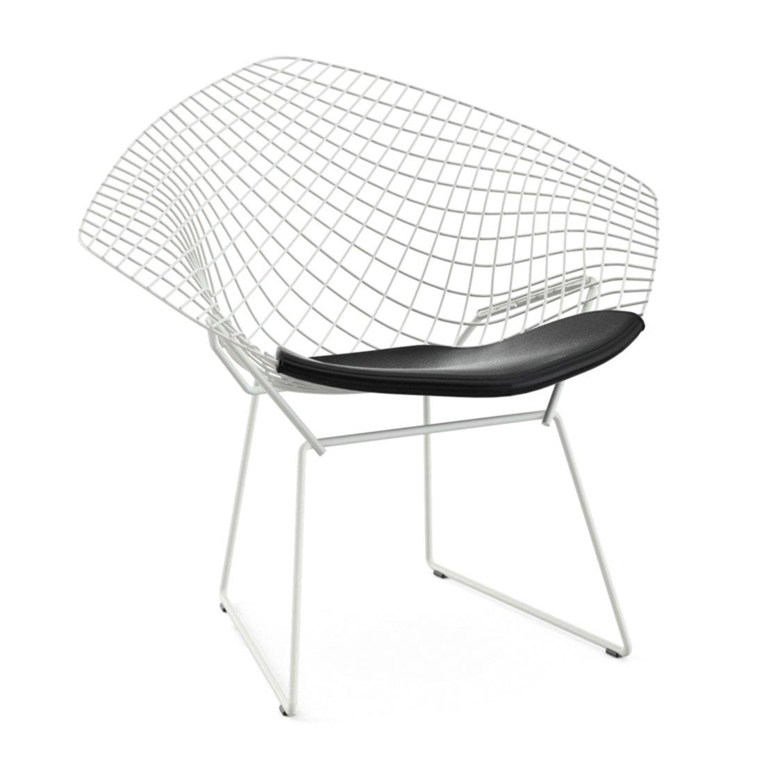 Knoll Bertoia Diamond Lounge Chair Outdoor Wit - Vinyl/Zwart