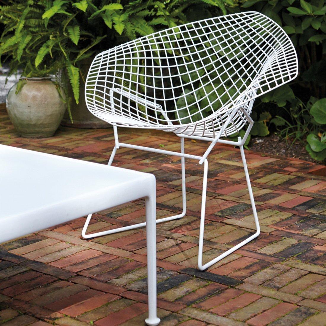 Knoll Diamond Lounge Chair Wit Rilsan