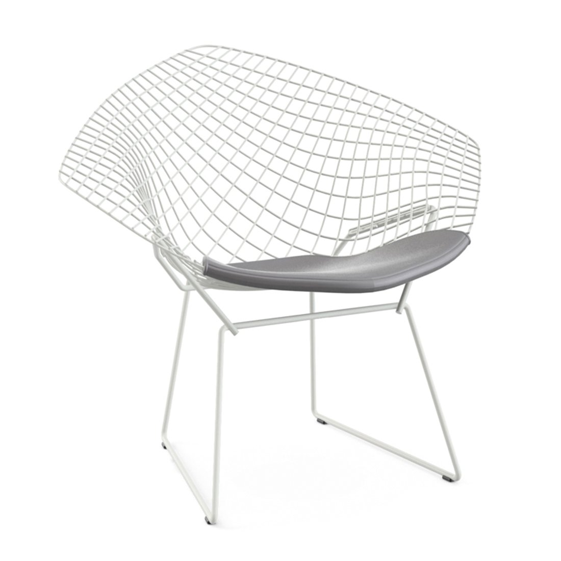 Knoll Diamond Lounge Chair Wit - Vinyl Fog