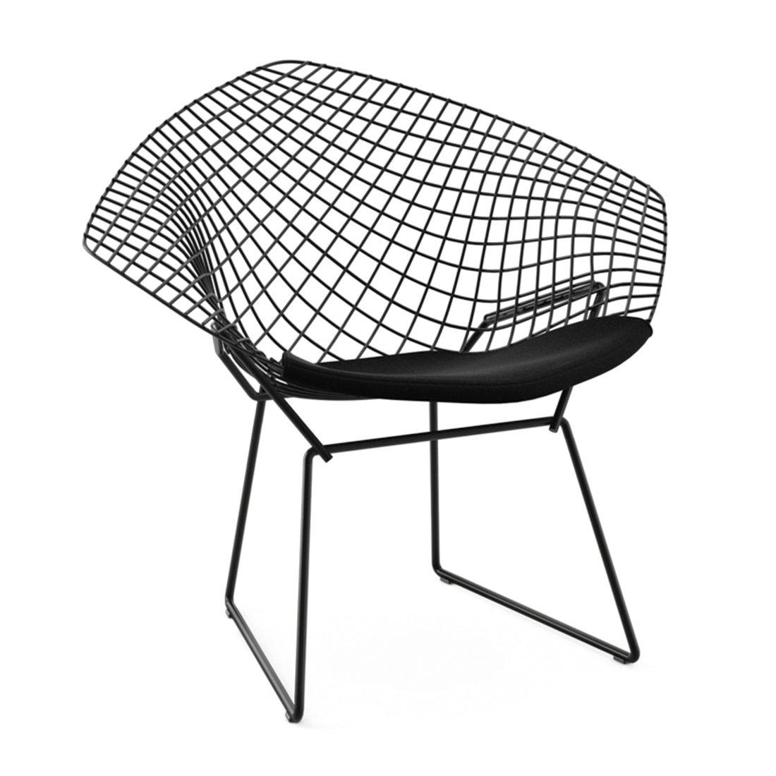 Knoll Diamond Lounge Chair Zwart - Ultrasuede Black Onyx