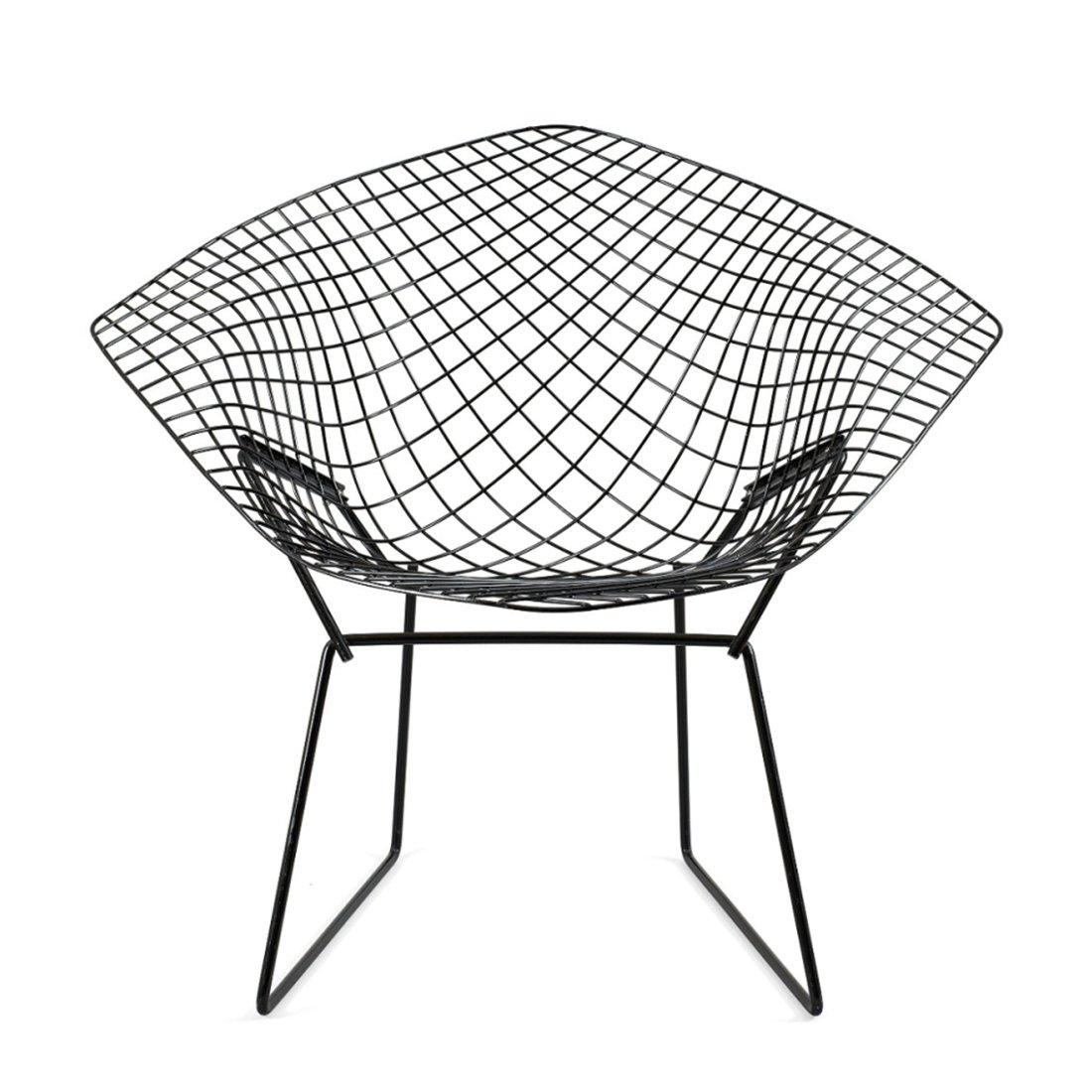 Knoll Diamond Lounge Chair Zwart Rilsan
