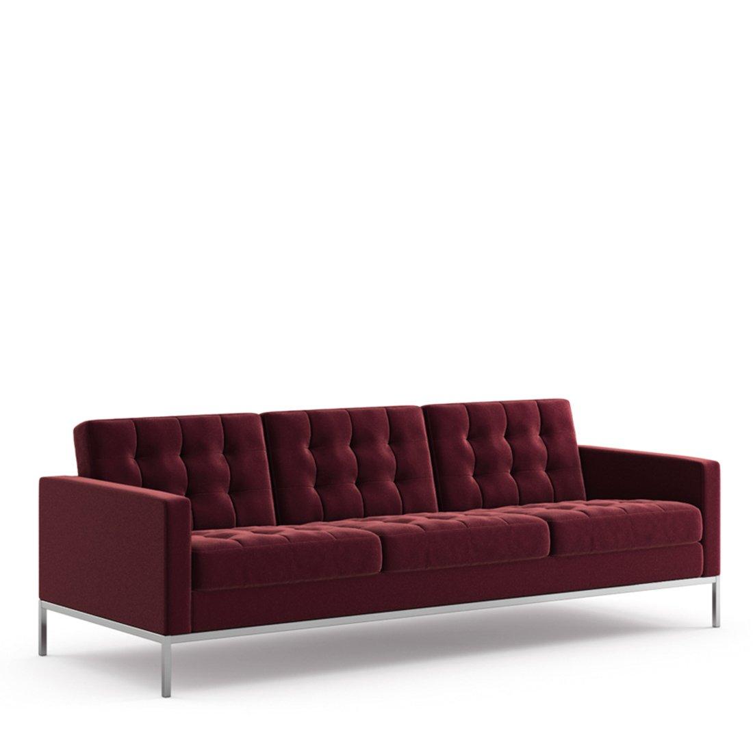 Knoll Florence Knoll Sofa (Relax) 3-zits - Velvet Wine
