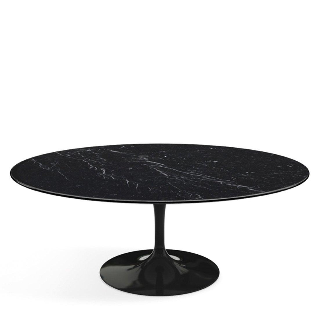 Knoll Saarinen Tulip Salontafel Ovaal Zwart - Nero Marquina