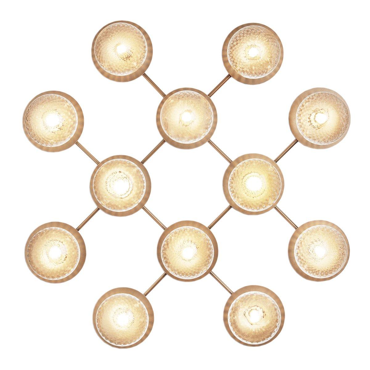 Nuura Liila 12 Wand- & Plafondlamp - Nordic Gold - Optic Clear