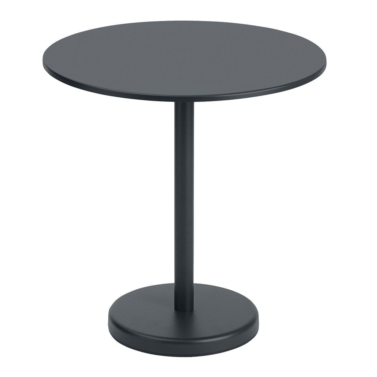 Muuto Linear Steel Caf� Tafel Rond - Black