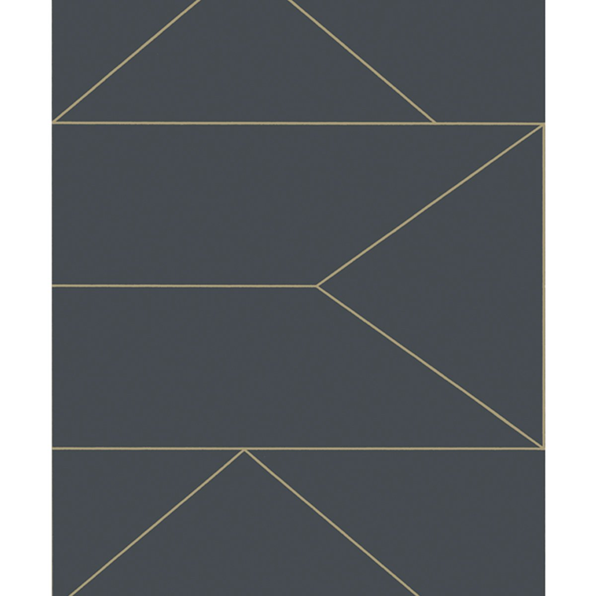 Ferm Living Lines Behang - Graphite