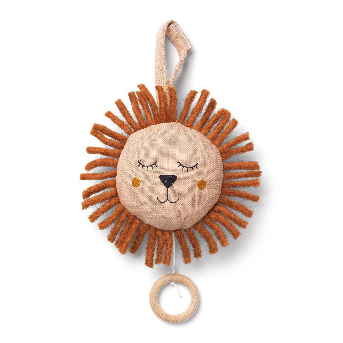 Ferm Living Lion Muziekmobiel - Dusty Rose