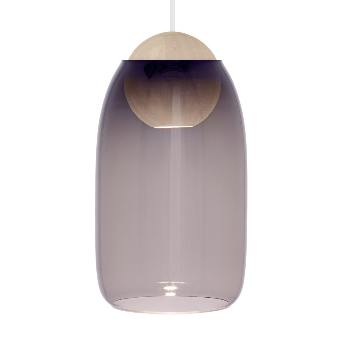 Mater Liuku Ball Glass Hanglamp Violet