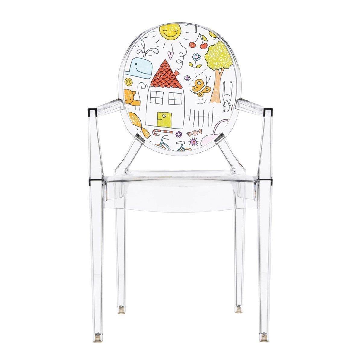 Kartell Lou Lou Ghost Special Edition Kinderstoel - Tekening