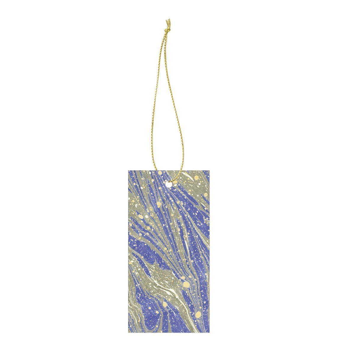 Ferm Living Marbling Cadeau Label - Bright Blue