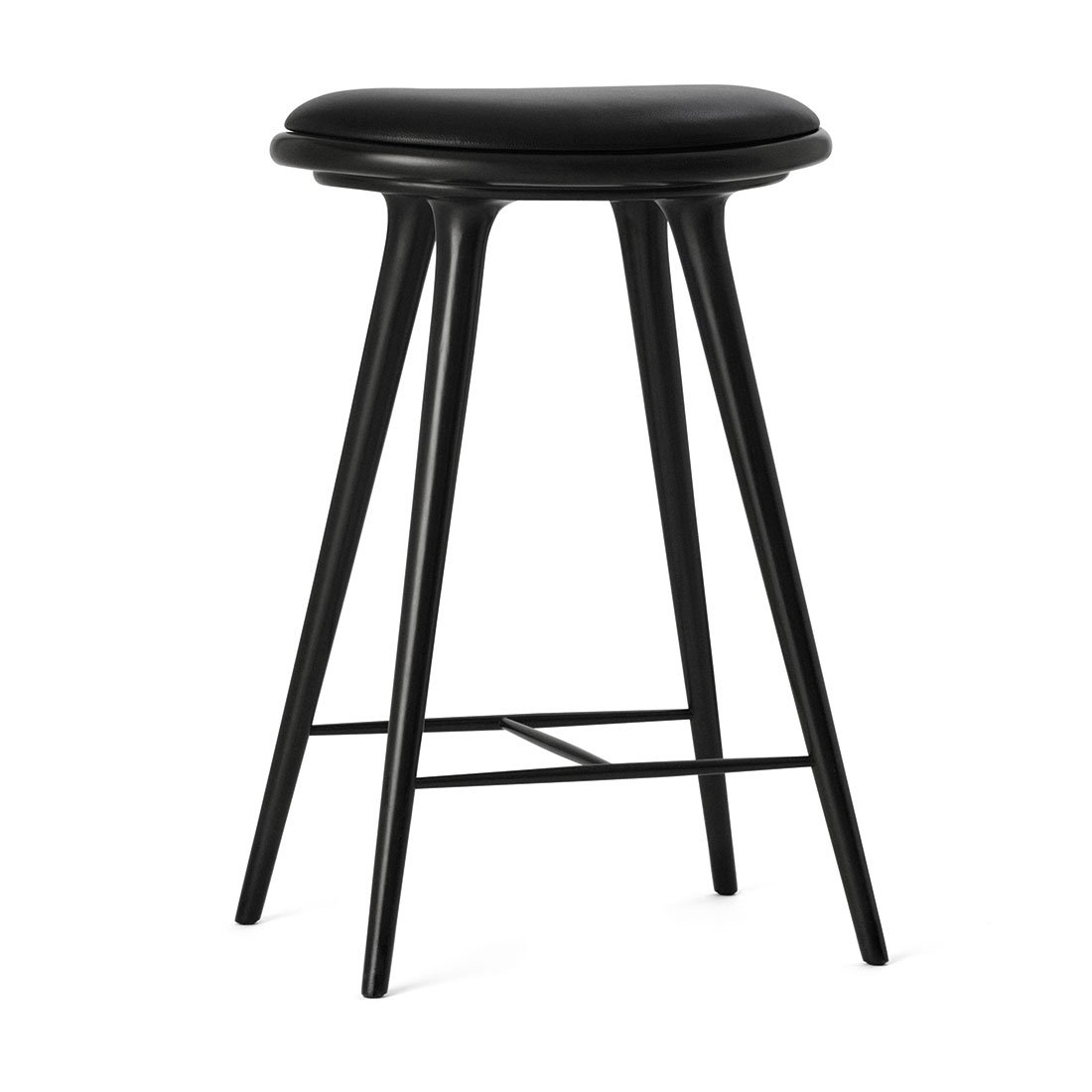 High Stool Black Stained Beechwood 69 cm Mater