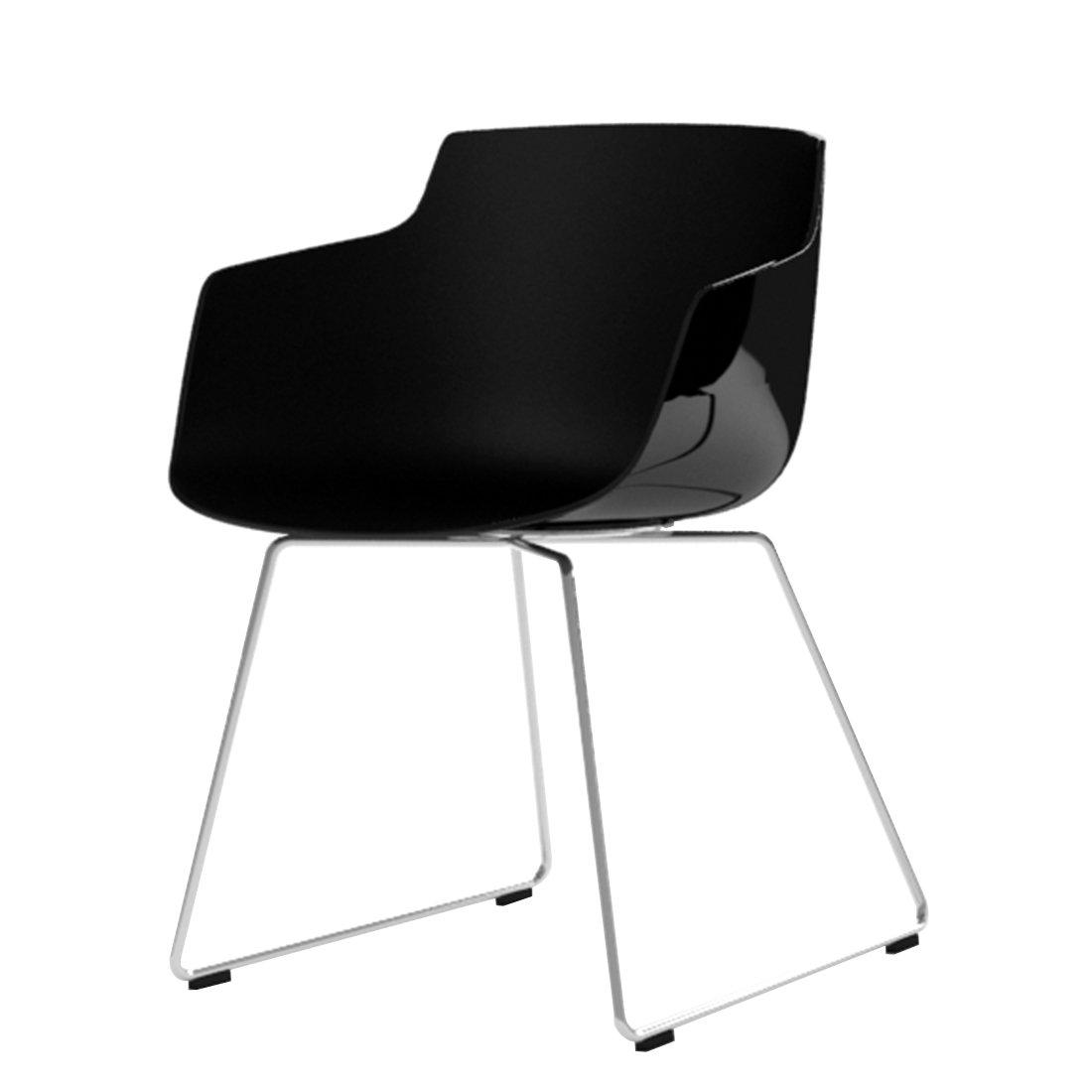 MDF Italia Flow Slim Chair Slede Onderstel Zwart - Chroom
