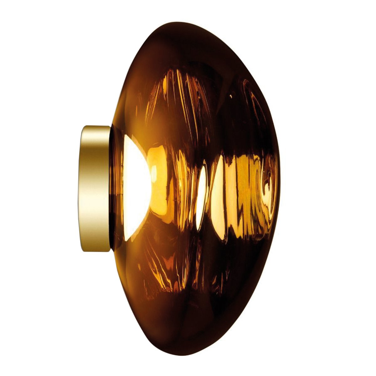 Tom Dixon Melt Surface Wand- en Plafondlamp Goud LED