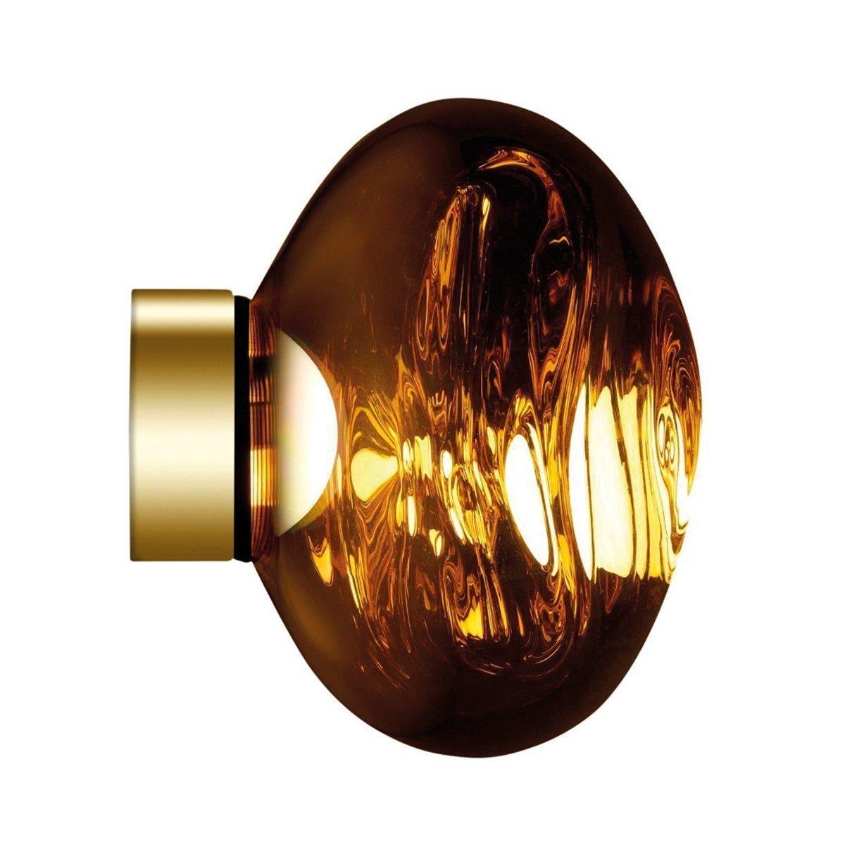 Tom Dixon Melt Mini Surface Wand- en Plafondlamp - Goud