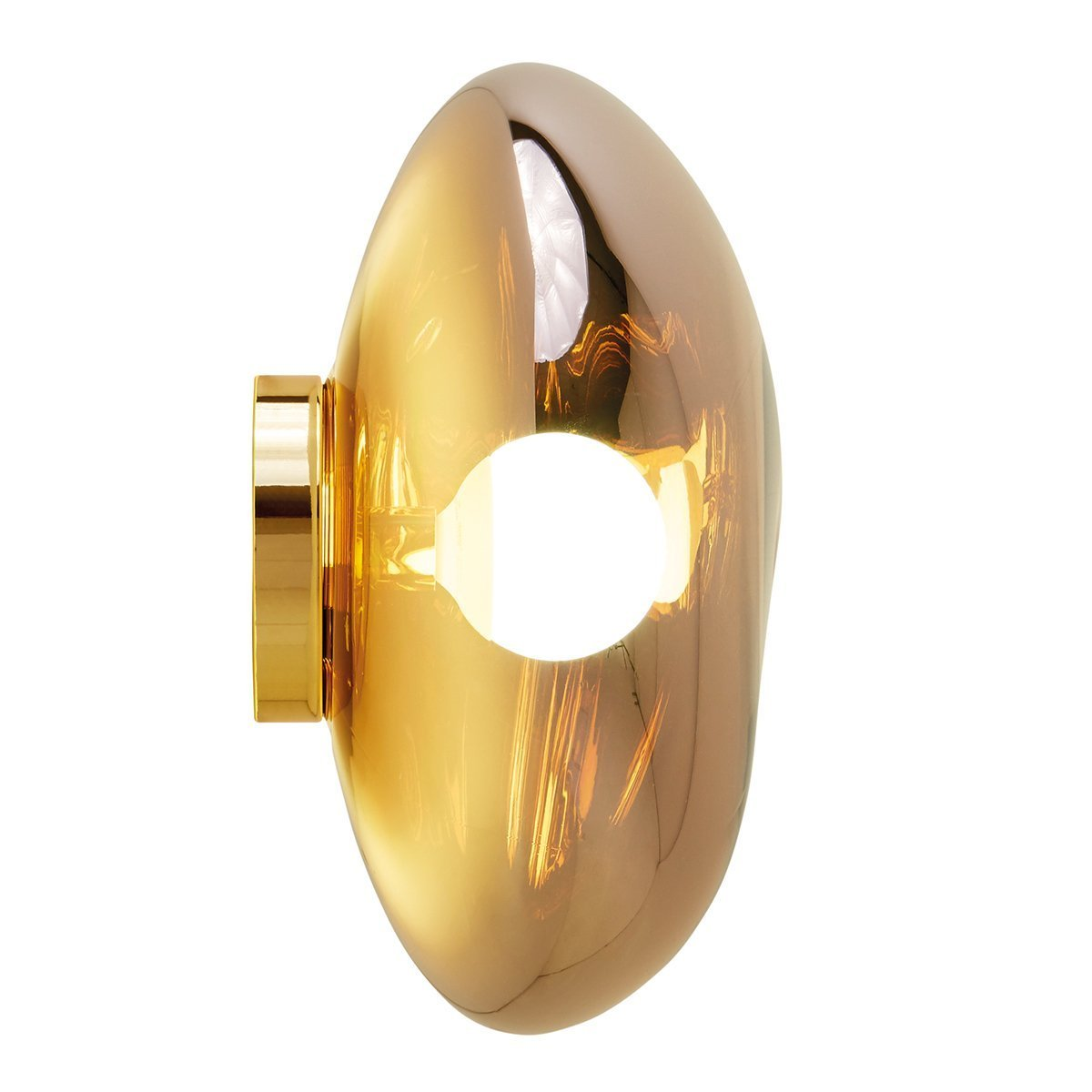 Tom Dixon Melt Surface Wand- en Plafondlamp Goud