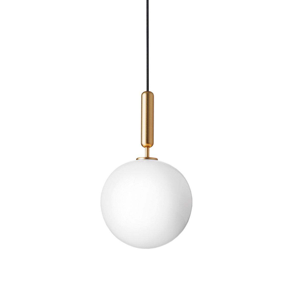 Nuura Miira 1 Hanglamp Large - Brass - Opal White