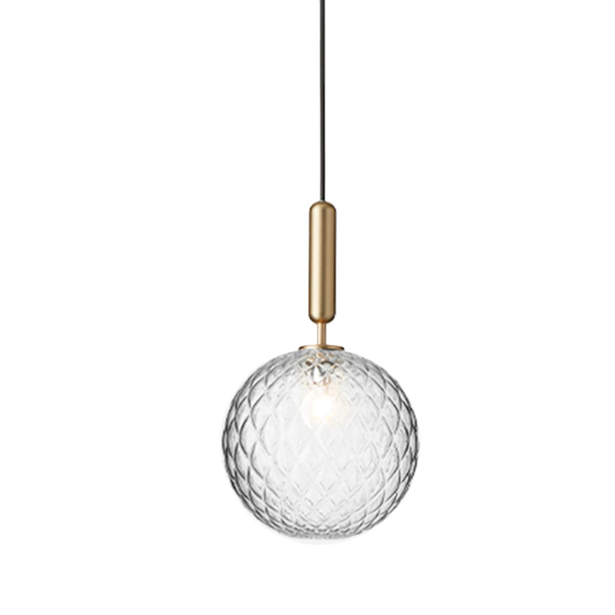Nuura Miira 1 Hanglamp Large - Brass - Optic Clear