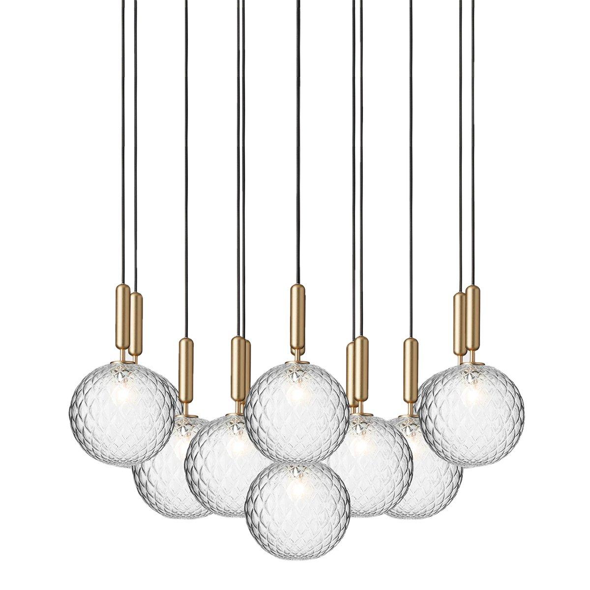 Nuura Miira 13 Hanglamp Large - Brass / Optic Clear