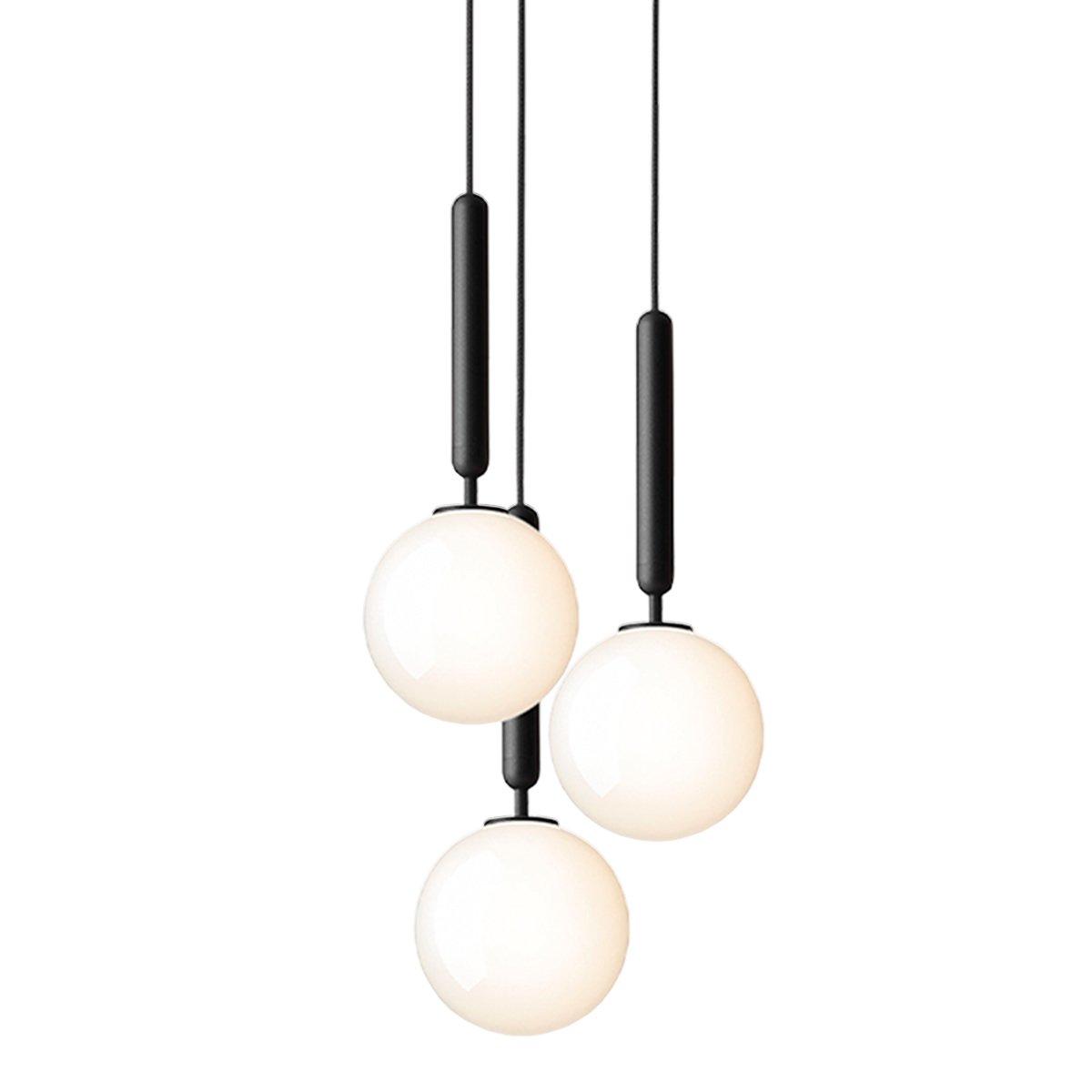 Nuura Miira 3 Hanglamp Medium - Rock Grey - Opal White