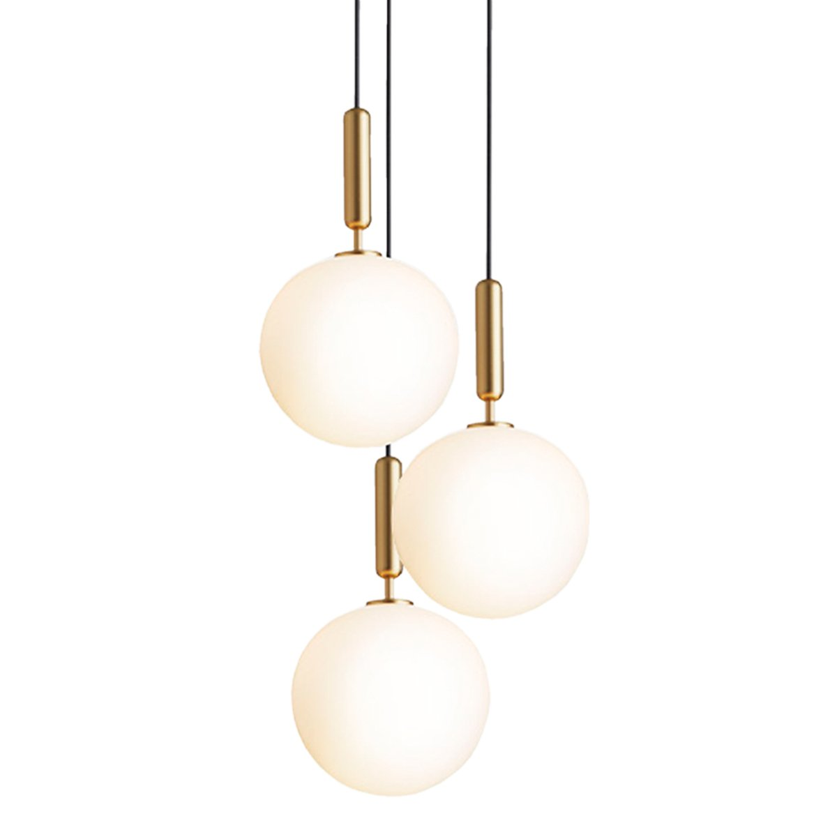 Nuura Miira 3 Hanglamp Large - Brass / Opal
