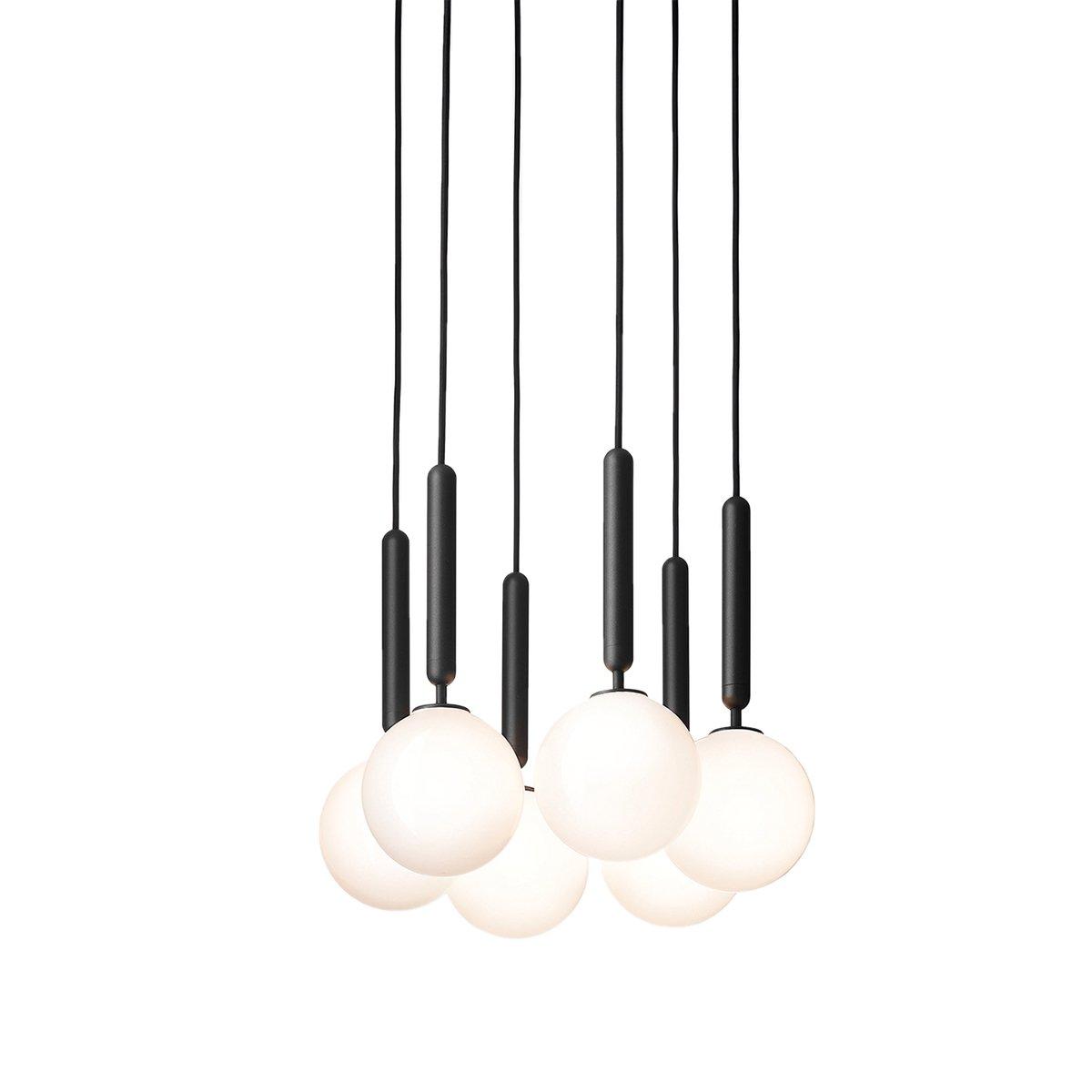 Nuura Miira 6 Hanglamp Medium - Rock Grey / Opal