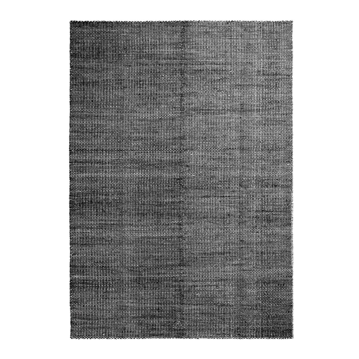 HAY Moir� Vloerkleed Zwart - l. 200 x b.140 cm.
