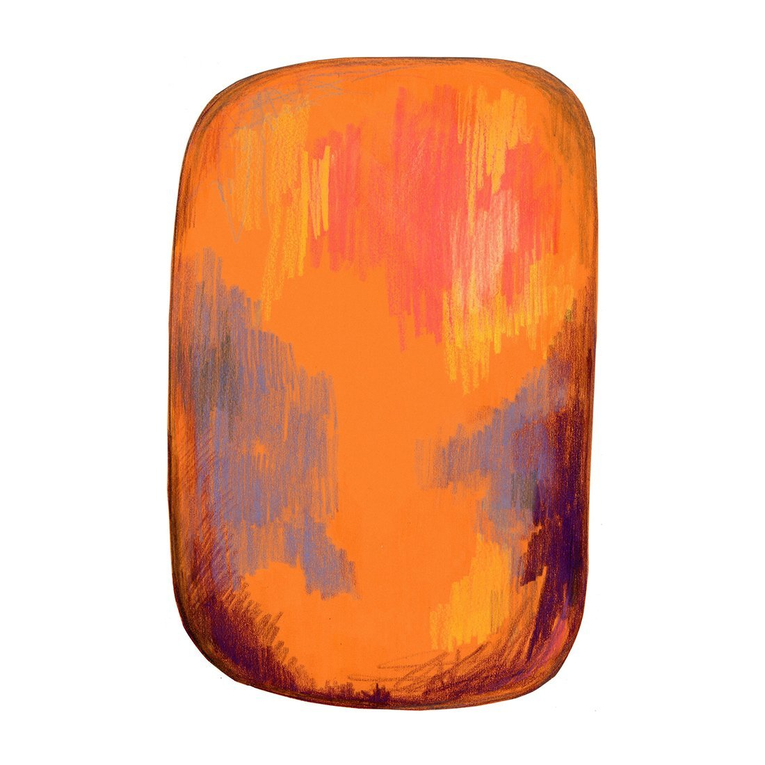 Moooi Carpets Scribble Vloerkleed Geel/Oranje
