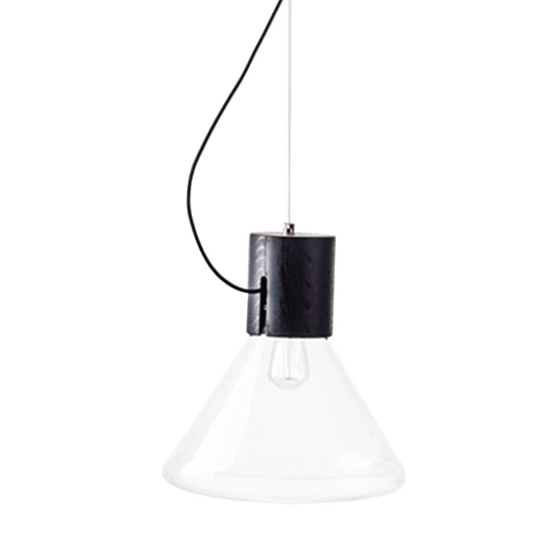 Brokis Muffin Hanglamp Small Transparant - Zwart Eiken Body