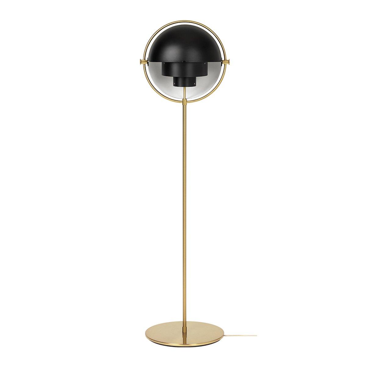 Gubi Multi-Lite Vloerlamp Messing - Zwart
