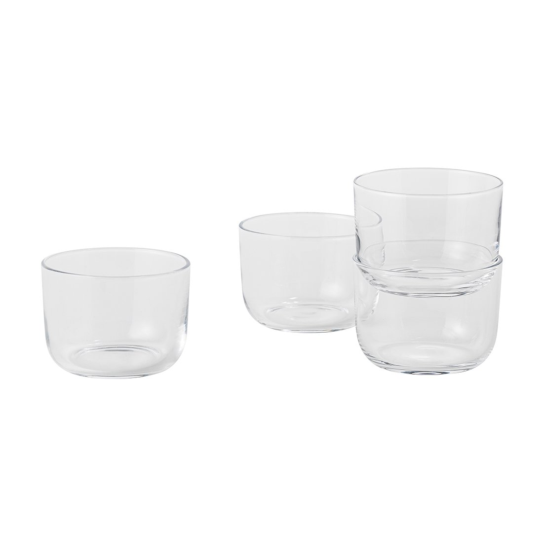 Muuto Corky Drinkglazen Low, set van 4
