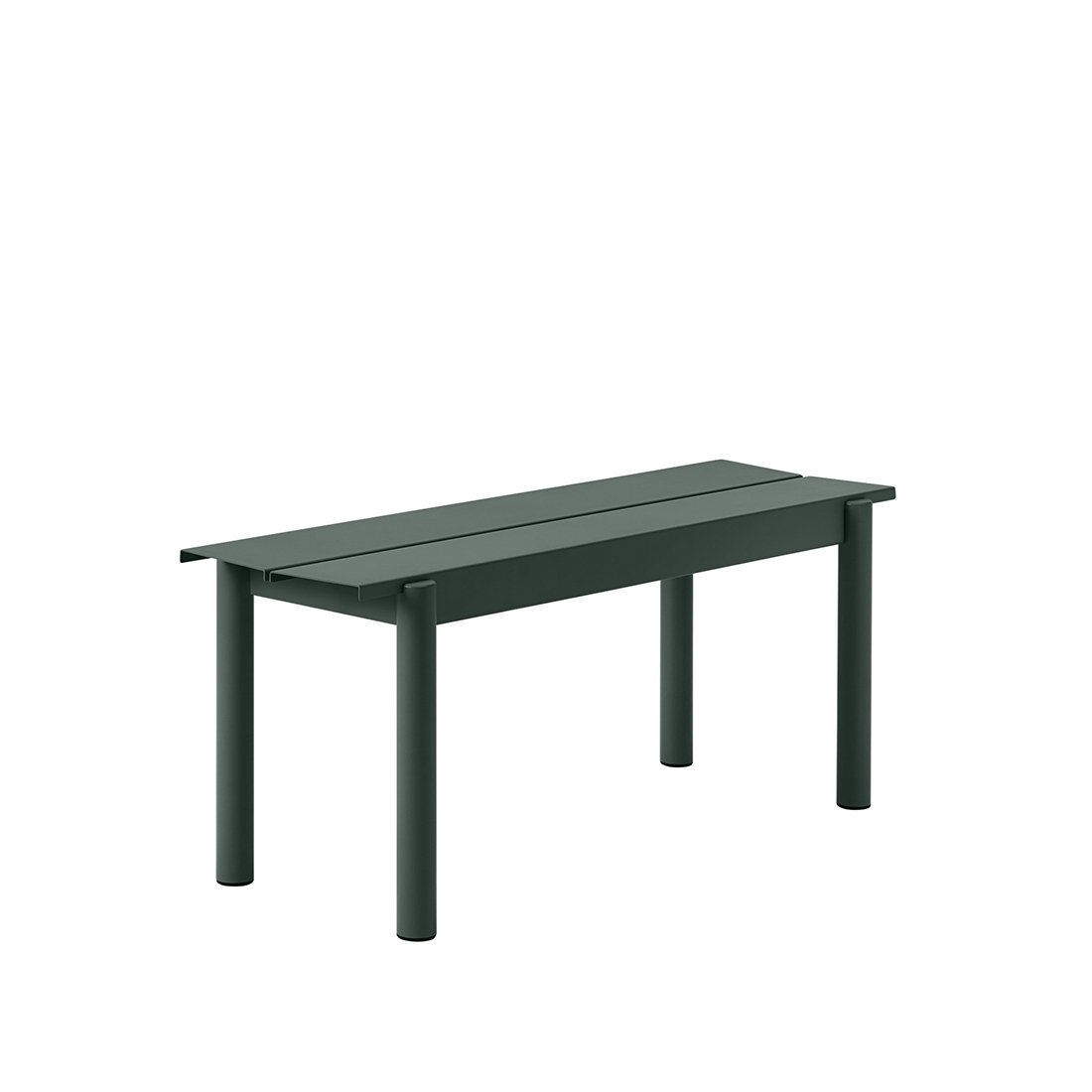 Muuto Linear Steel Bank Dark Green - b. 110 cm.