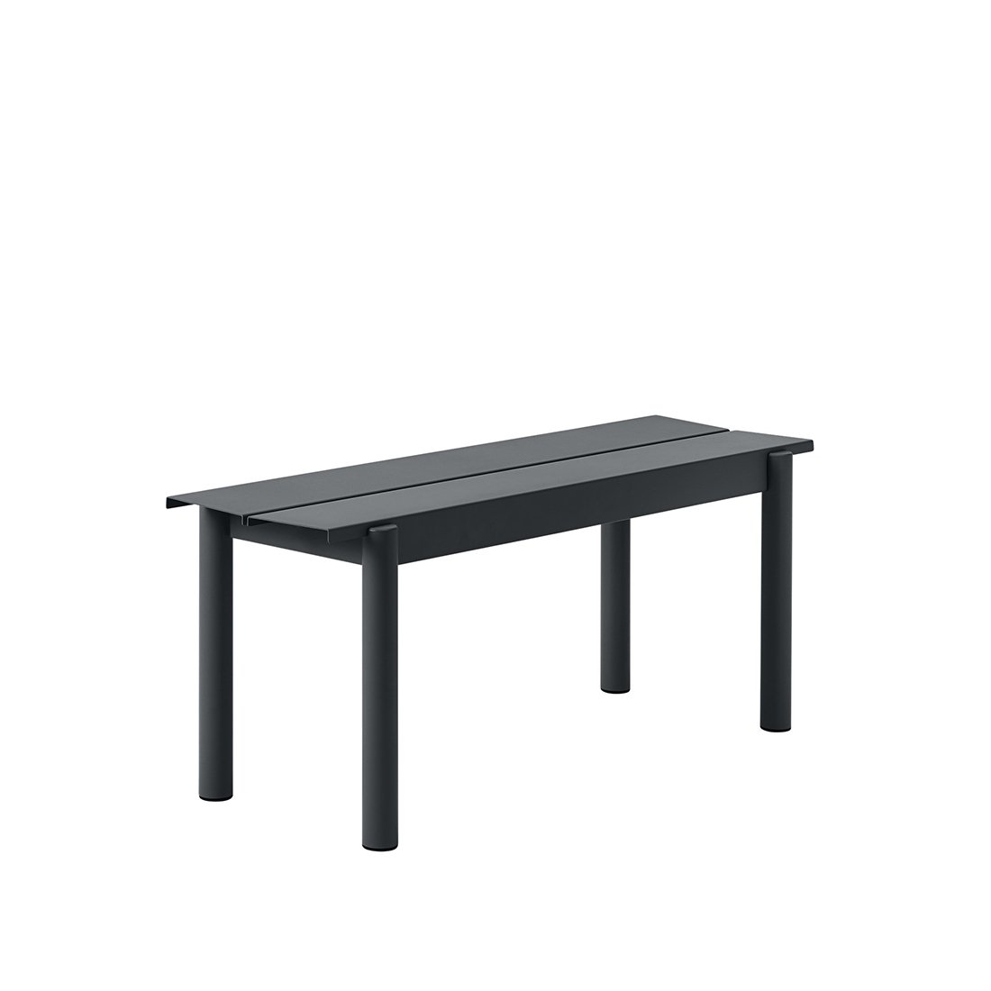 Muuto Linear Steel Bank Black - b. 110 cm.
