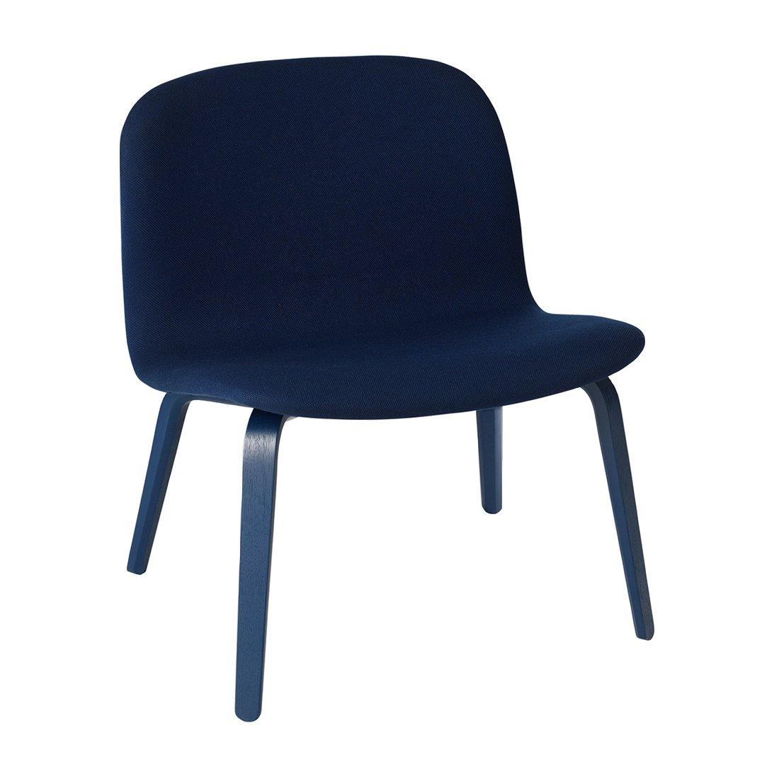 Muuto Visu Loungechair Steelcut 775 Donkerblauw Onderstel
